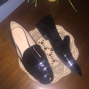 Black Patent Loafer by Nine West Sz 10 NEW!